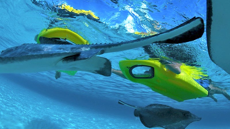 A Kick Board With a View Lets You Snorkel Without Submerging