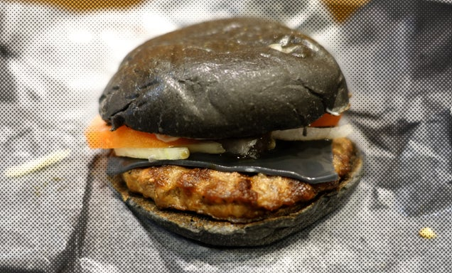 I Ate Burger King Japan's Black Cheeseburger—And the McDonald's One Too