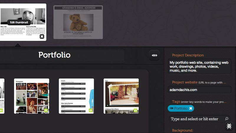 Dropr Is a Dead-Simple, Drag and Drop Online Portfolio Creation Tool