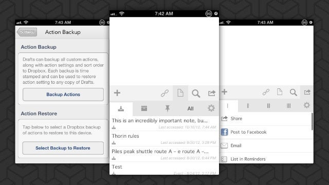 Drafts Adds Management Options, Better Evernote Integration, and More