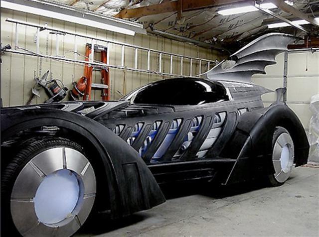 Sculptor Builds Batman Forever Batmobile In Garage