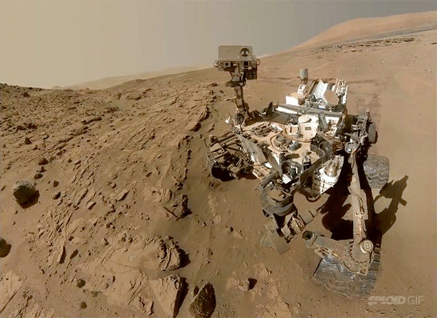 Why has Curiosity slowed down its course during its first Mars year?