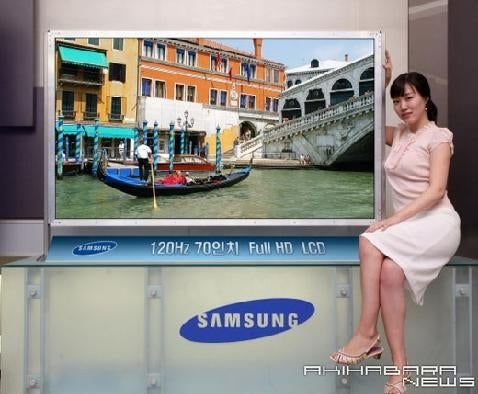 "Samsung Releases 70"" HDTV for Consumers"