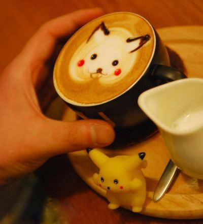 Would You Like a Little Pikachu On That Latte?