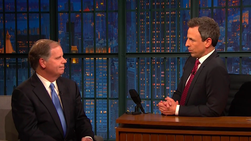 Seth Meyers and senator-elect Doug Jones talk Roy Moore—and not being Roy Moore
