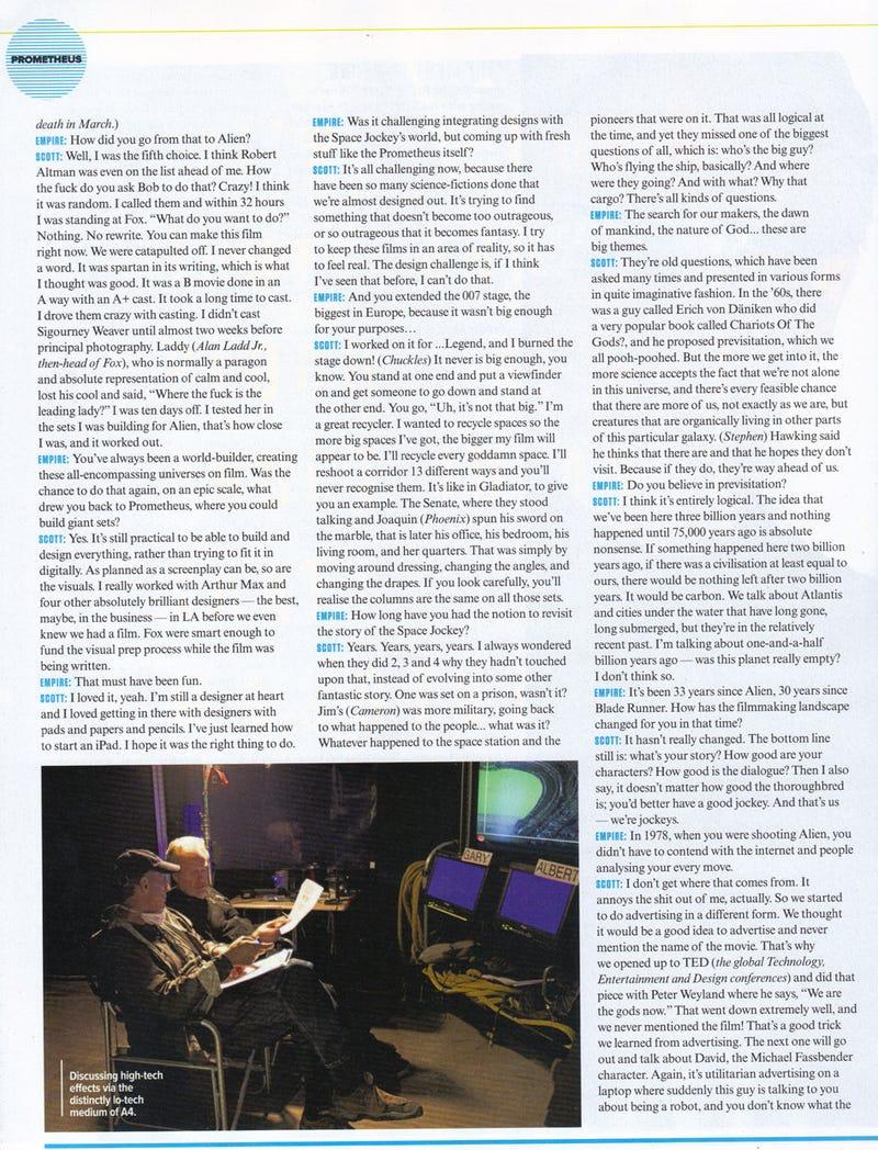Prometheus Scans from Empire Magazine