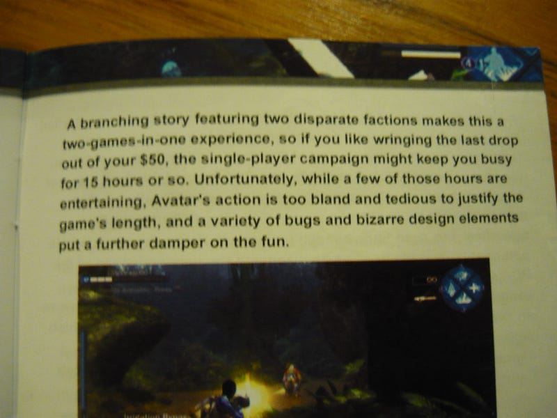 If Only The Avatar Game Manual Was This Amusing