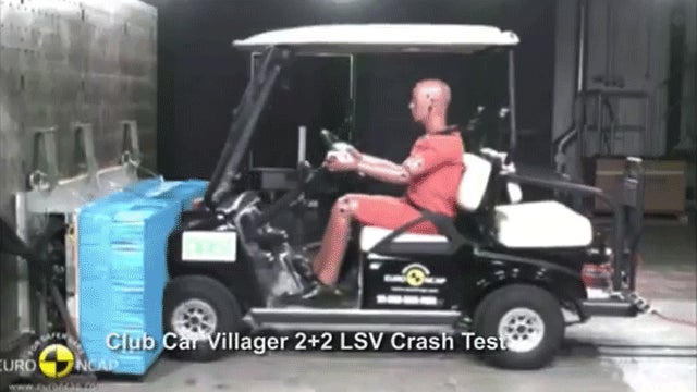 I Can't Stop Watching This Horrifying Golf Cart Crash Test Video