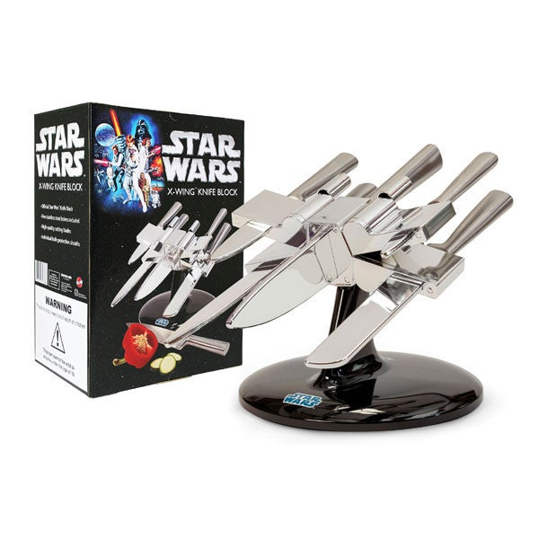 A knife block. In the shape of an X-Wing. That is all.
