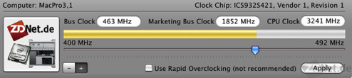ZDNet Clock Overclocks Your Mac Pro