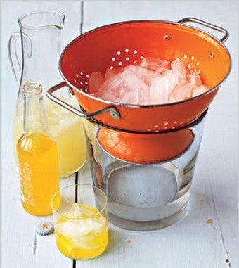 Stash Ice in a Colander for Drip-Free Ice