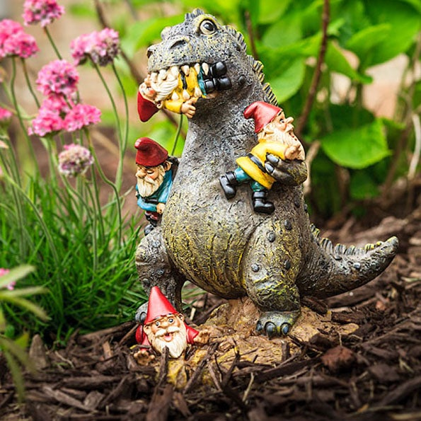 Garden gnomes are fierce, yes...