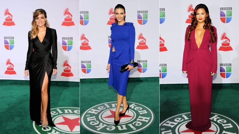 Stars In Eye-Searing Sequins Shimmer & Shine At The Latin Grammys