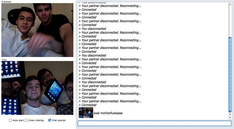 iPad Chatroulette Gallery