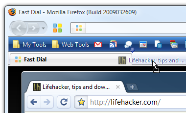 Drag Tabs from Google Chrome to Firefox