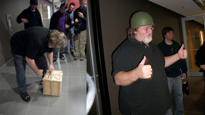 Kids Visit Gabe Newell For His Birthday, Give Him DLC as Present