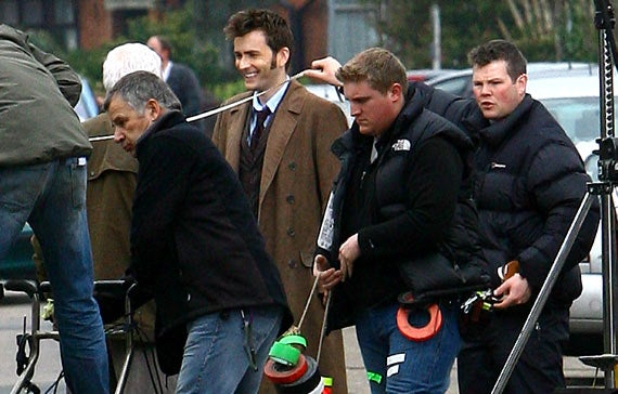 Mickey Rourke Describes His Iron Man Armor. Plus Doctor Who Set Pics!