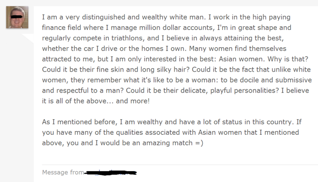 White Guys Creeping Out Asian Women on Dating Sites