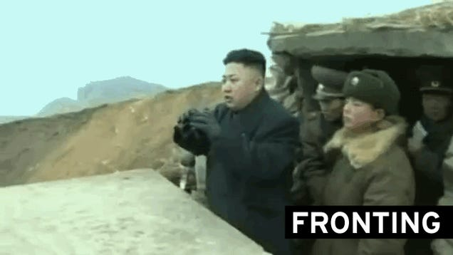 Kim Jong-Un Visits Front Lines as North Korea Threatens to Use Weapons It Doesn't Have