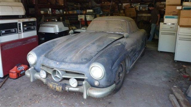 "Rare ""graduation present"" Mercedes Gullwing found in a rat-infested garage"