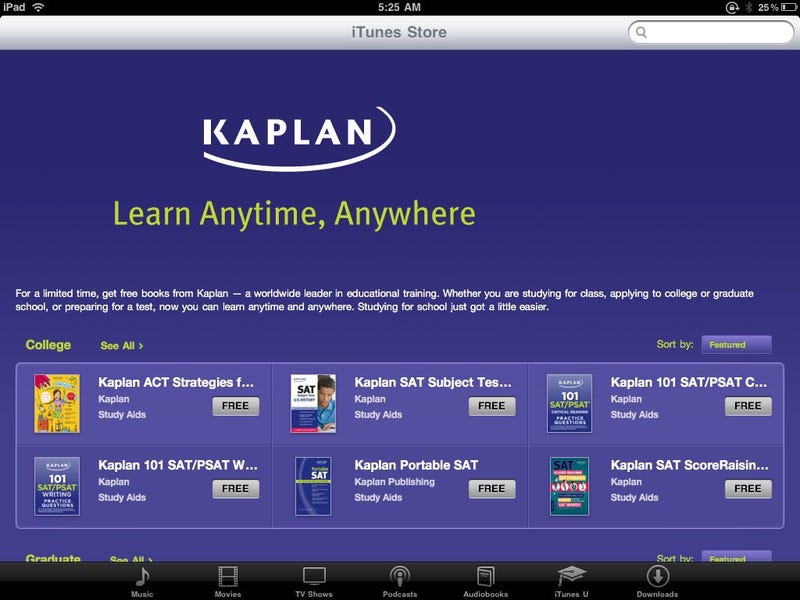 Get Free Study Guide Ebooks from Kaplan Through August 30th