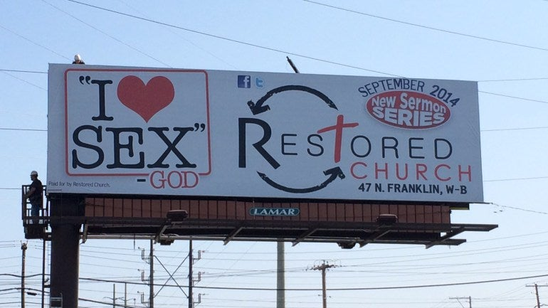 God Loves Sex, According to This Billboard
