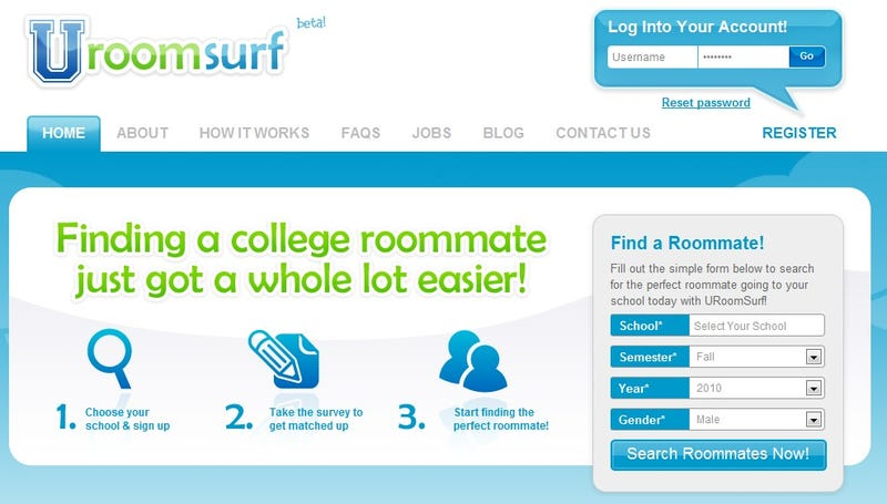URoomSurf Is a Questionnaire-Driven Roommate Matching Service
