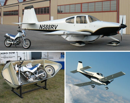 MotoPod Solves The Eternal Problem: What Do I Do With My Motorcycle When I'm Flying My Cessna?