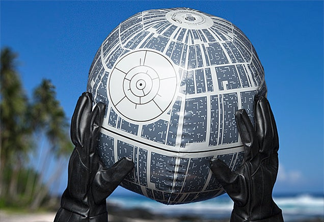 An Inflatable Death Star Beach Ball That Lights Up Because Why Not?