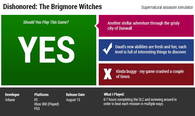 Dishonored: The Brigmore Witches: The Kotaku Review