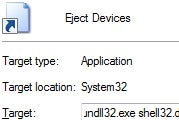 """Create a Shortcut to Windows' """"Safely Remove Hardware"""" Dialog"""