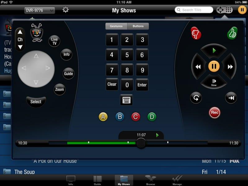TiVo iPad Remote
