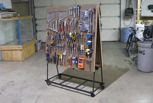 Build a Rolling Pegboard Tool Organizer