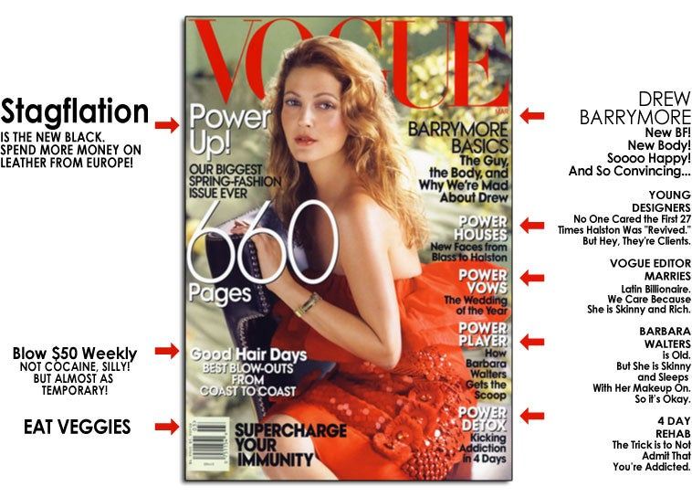 Vogue Cover Girl Drew Barrymore Has Been Powerfully Photoshopped