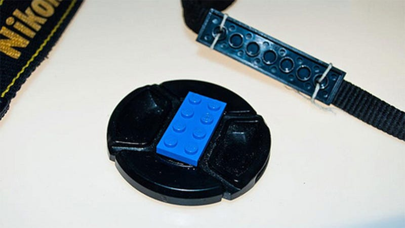 Never Lose a Lens Cap with the Help of a Lego Brick