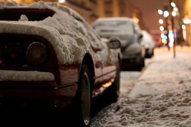 A Ferrari In The Snow