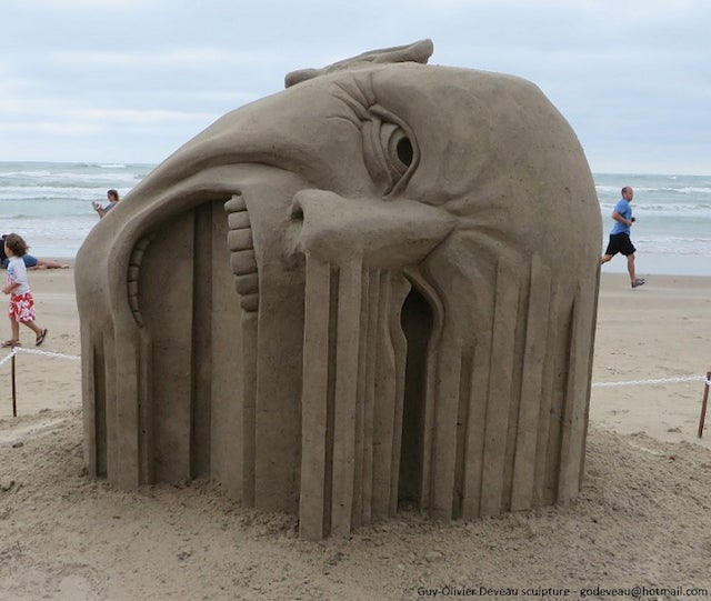 This remarkable sand sculpture will make your face melt