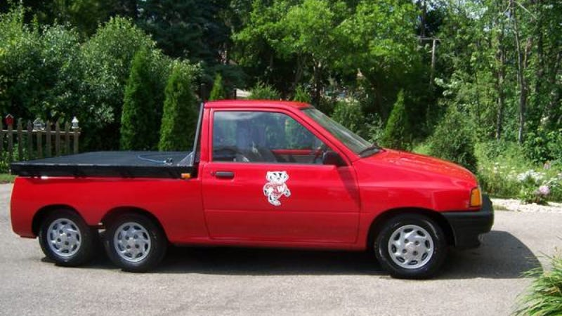 Ford Festiva 6-Wheel Pickup Looks Like Something Out Of A Cute LEGO Set