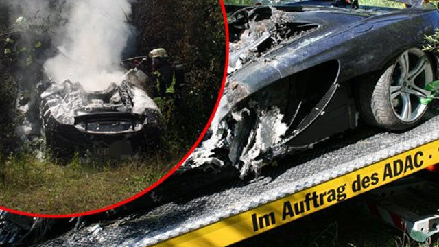 German McLaren MP4-12C Test Drive Ends In Fiery Crash
