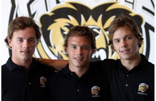 The Triplets From Baby Geniuses Will Play College Hockey Together