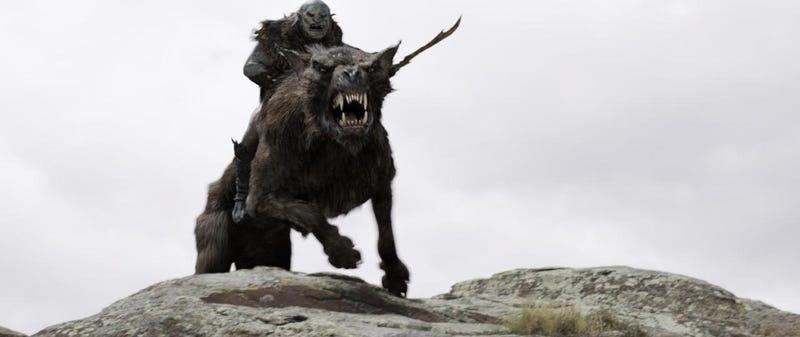 The Hobbit photos of wargs