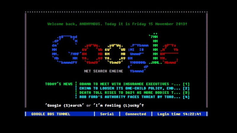 Travel Back to the Nonexistent Past With a Functional Google BBS