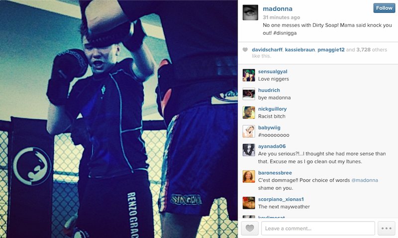 Madonna Honors Her Son With Racist Hashtag