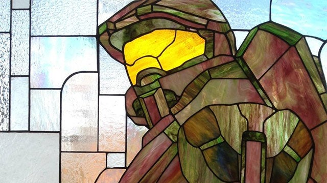 Play the Halo Theme Song And This Impressive Master Chief Stained-Glass Window is Even Cooler