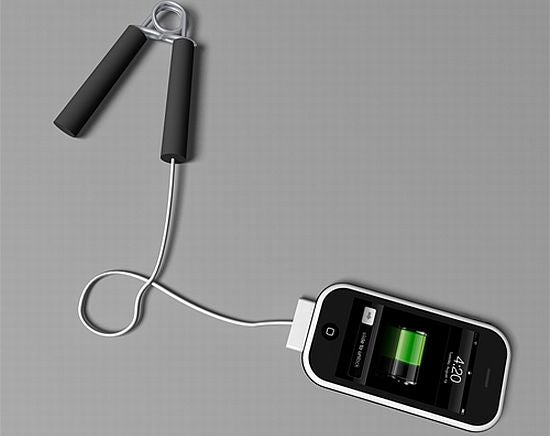 Hand Grip iPhone Charger Builds a Strong, Confident Handshake