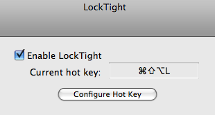 LockTight Secures Your Mac With a Hotkey