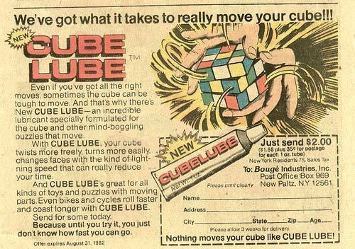 Cube Lube: 'What It Takes to Really Move Your Cube'