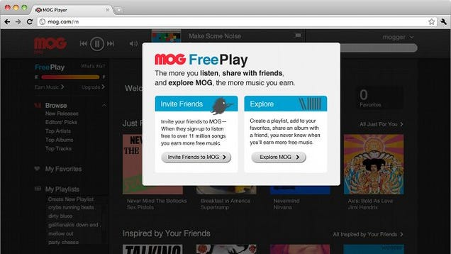 MOG's FreePlay Lets You Listen to Music Without Paying For It