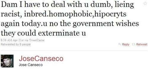Jose Canseco Particularly Concerned With Government-Ordered Extermination