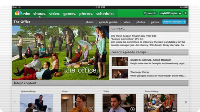 NBC's iPad App Gives You One Less Reason to Use Hulu Plus